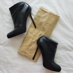 Sergio Rossi Black Leather Booties